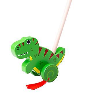 Bigjigs Toys Wooden T-Rex Push Along
