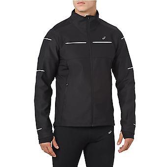Asics Liteshow Mens Hi-Vis Running Fitness Training Winter Jacket Coat Black