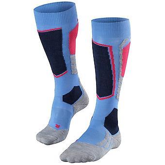 Falke skiløb 2 Knæhøje sokker-blå note