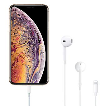 Stuff Certified ® iPhone Lightning auriculares con cable Pods Auriculares Ecouteur con micrófono blanco