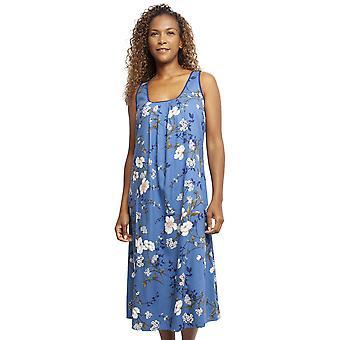 Cyberjammies 4370 vrouwen ' s Heather Blue katoenen Pyama met bloemen print