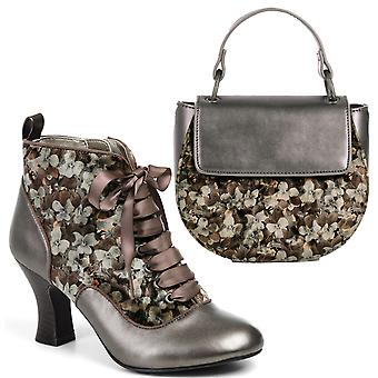 Ruby Shoo Bailey Mink Boots & Matching Acapulco Bag