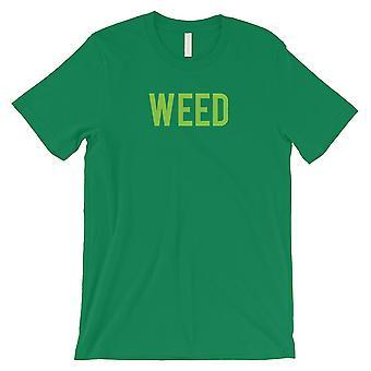 Unkraut Buchstaben Herren grün T-Shirt