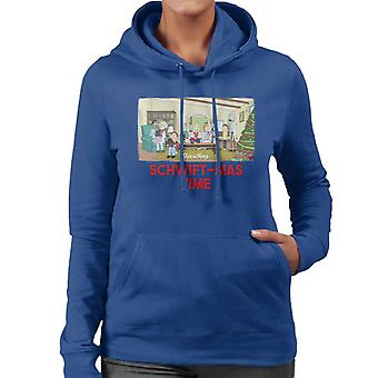 Rick and Morty Schwiftmas Time Technology Takeover Women's Hooded Sweatshirt