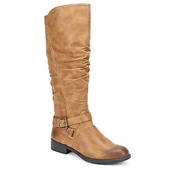 White Mountain Womens Layton Leather Almond Toe Mid-Calf Fashion Boots