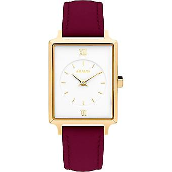 Montre Amalys APRIL - Montre Cuir Rose Femme