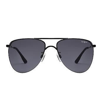 Le Specs The Prince Black Matte Aviator Sunglasses
