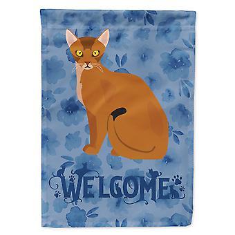 كارولينز كنوز CK5005CHF الحبشة القط ترحيب العلم قماش البيت حجم