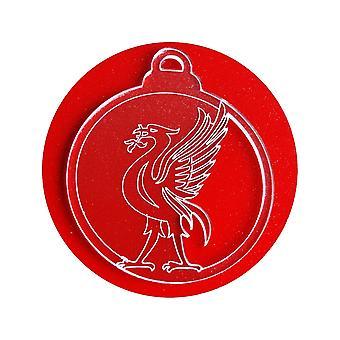 6 Pk Liverpool Liverbird Acryl Weihnachtsschmuck