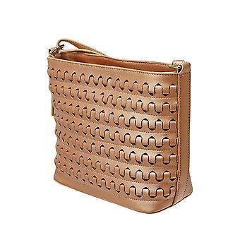 Envy Bags Metallic Crossbody Bag - Rose Gold