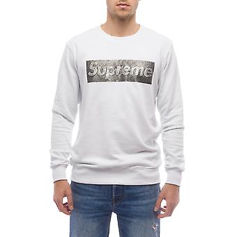 Sweatshirt White Supreme Grip Heren