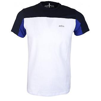 883 politie Malvan Slim Fit ronde wit/blauw T-shirt