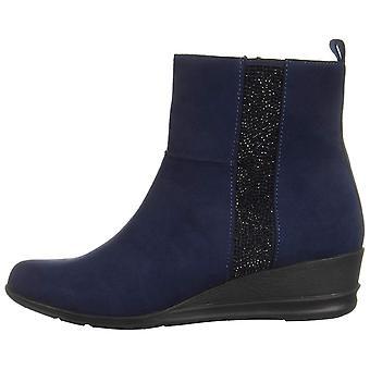 Anne Klein Womens Carlota 2 Fabric Almond Toe Ankle Fashion Boots