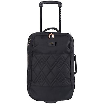 Rip Curl F-Light Cabin Rose Wheeled Luggage in Black