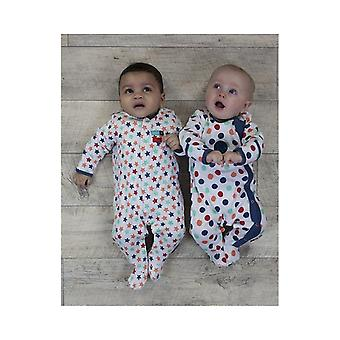 The Essential One Baby Boys Bold Spot Sleepsuits - 2 Pack