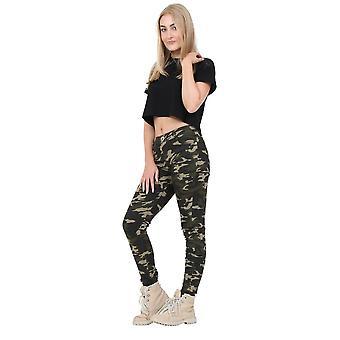 Army Camouflage Slim Skinny Stretch Trousers