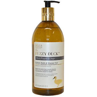 The Fuzzy Duck by Baylis and Harding Luxury Bath & Shower Gel 750ml Black Pepper, Sage & M
