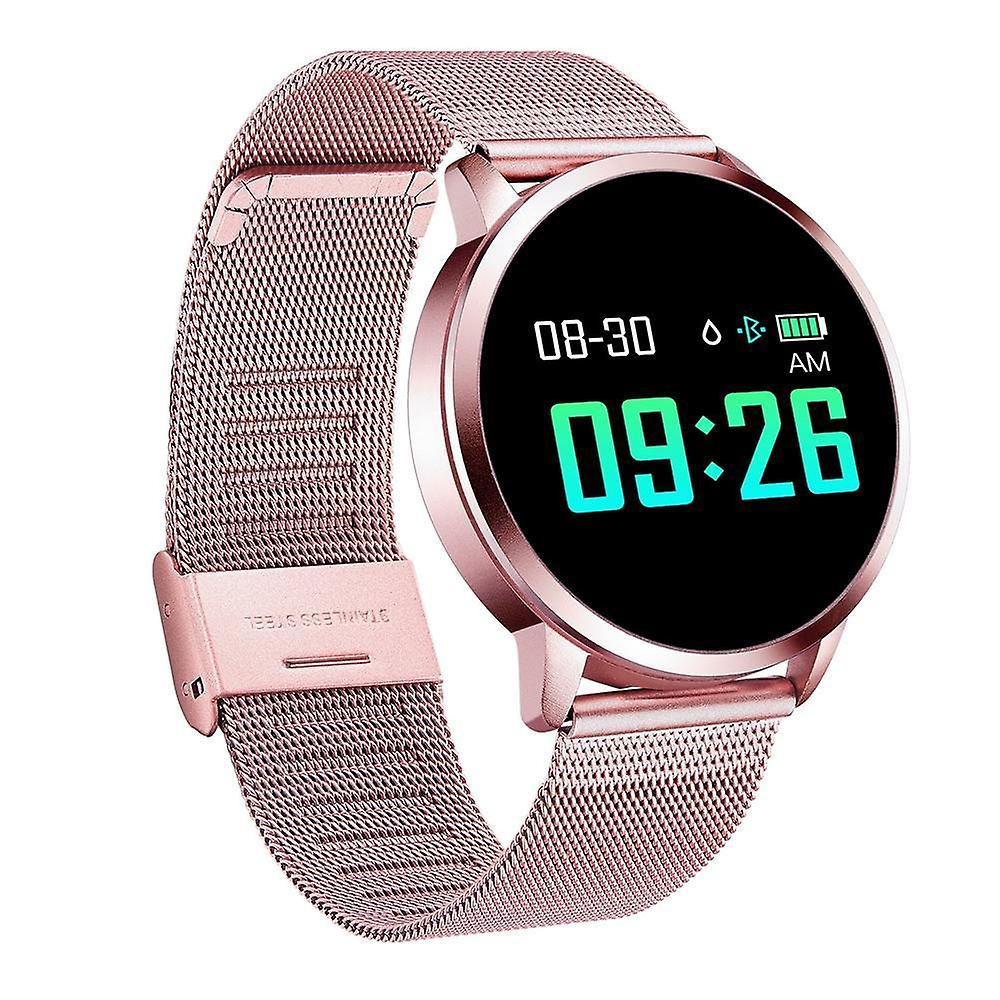 Stainless Steel SmartWatch 0.95 inch OLED Color Screen Blood Pressure Heart Rate Smart Watch