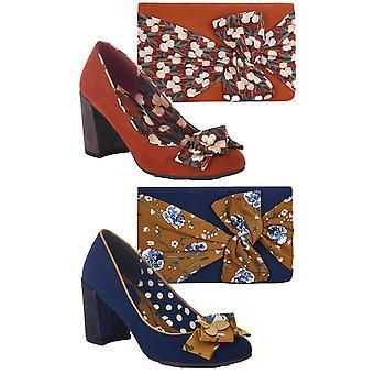 Ruby Shoo Women's Pandora Low Heel Court Shoes & Matching Hobart Bag