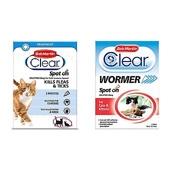 Bob Martin Clear Flea Removal and Wormer Tablets Spot On for Cats