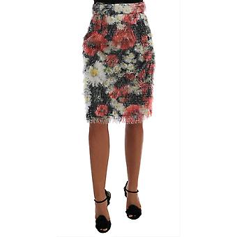 Dolce & Gabbana Floral Patterned Pencil Straight Skirt