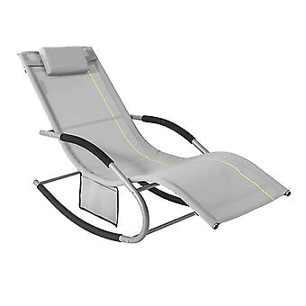 SoBuy OGS28-HG, Rocking Chair Relaxing Chair Sun Lounger