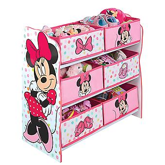 Minnie Mouse 6 Bin Storage Unit