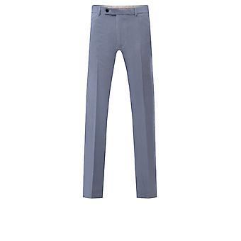 Avail London Mens Blue Stripe Suit Trousers Skinny Fit Seersucker