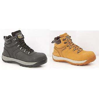 Grafters Mens Leather/Nubuck Safety Ankle Boot