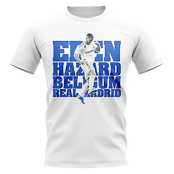 Eden Hazard Real Madrid Player T-Shirt (Bianco)