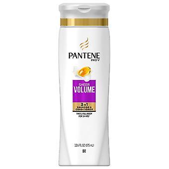 Pantene pro-v volumen 2 en 1 champú y acondicionador, onzas 12,6