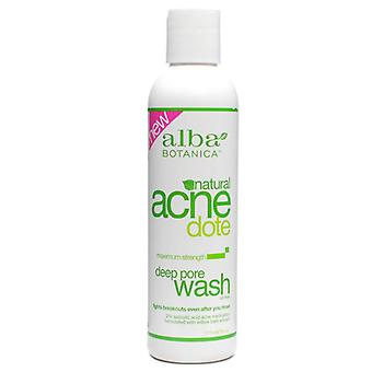 Alba botanica acne dote, deep pore wash, oil-free, 6 oz