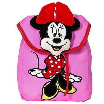 Disney Girl's Mickey Mouse & Friends Minnie Mouse Plush Backpack