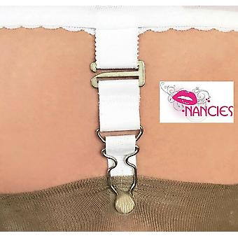 Nancies Lingerie 4 Pack Fixed Suspender / Garter Clips for Stockings
