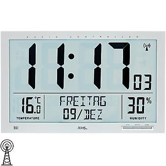 AMS 5888 wall kellon kelloradio radio-ohjattavat seinä kello digitaalinen päivämäärä herätyskello lämpömittari