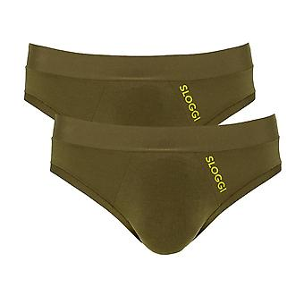 Sloggi Men GO Allround Sport Brief 2 Pack - Havanna