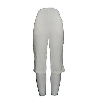 Denim & Co. vrouwen ' s broek hoe tijdloos stretch twill wit A70851