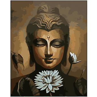 DIY canvas oil painting, DIY digital oil painting of Buddha series, living room bedroom decoration, mural painting