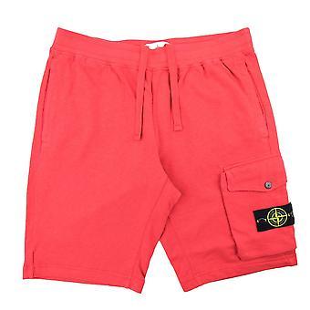 Stone Island 65860 Garment Dyed Shorts Red V0036