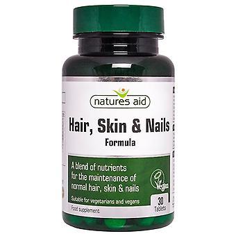 Natur ' s stöd hår; Hud och naglar formula tabletter 30 (121410)