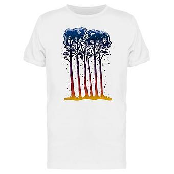 Tallinpuiden metsä siluetti. Tee Men's -Kuva Shutterstock