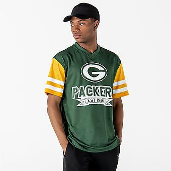 New Era and NFL Contrast Sleeve Oversized T-Shirt ~ Green Bay Packers