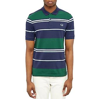 Fred Perry Men's Stripe Polo T-Shirt Regular Fit