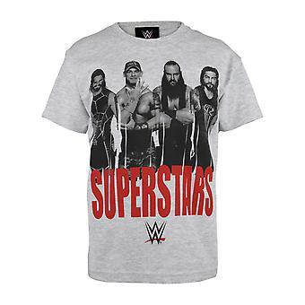 WWE सुपरस्टार लड़कों टी शर्ट । सरकारी माल