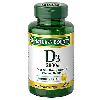 Nature's bounty vitamine d3, 2000 iu, softgels, 240 ea