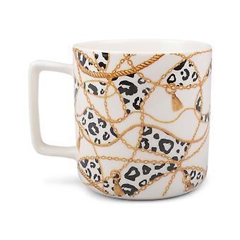 krus leopard mønster hvit 4-pack