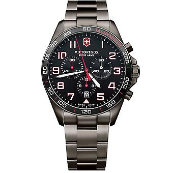 Victorinox FieldForce sport chronograaf Swiss made analoge Quartz roestvrijstaal mens Watch 241890