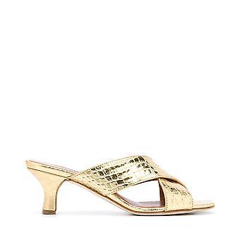 Paris Texas Px222xclaboro Women's Gold Leather Sandals