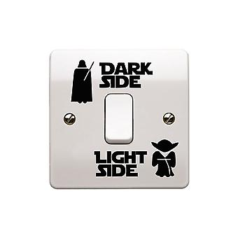 GNG Star Wars Dark Light Side Switch Vinyl decal stickers Sticker Child Room Lightswitch Wall