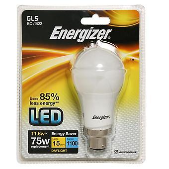 Energizer LED 1060lm GLS 11.6w Light Bulb Daylight B22